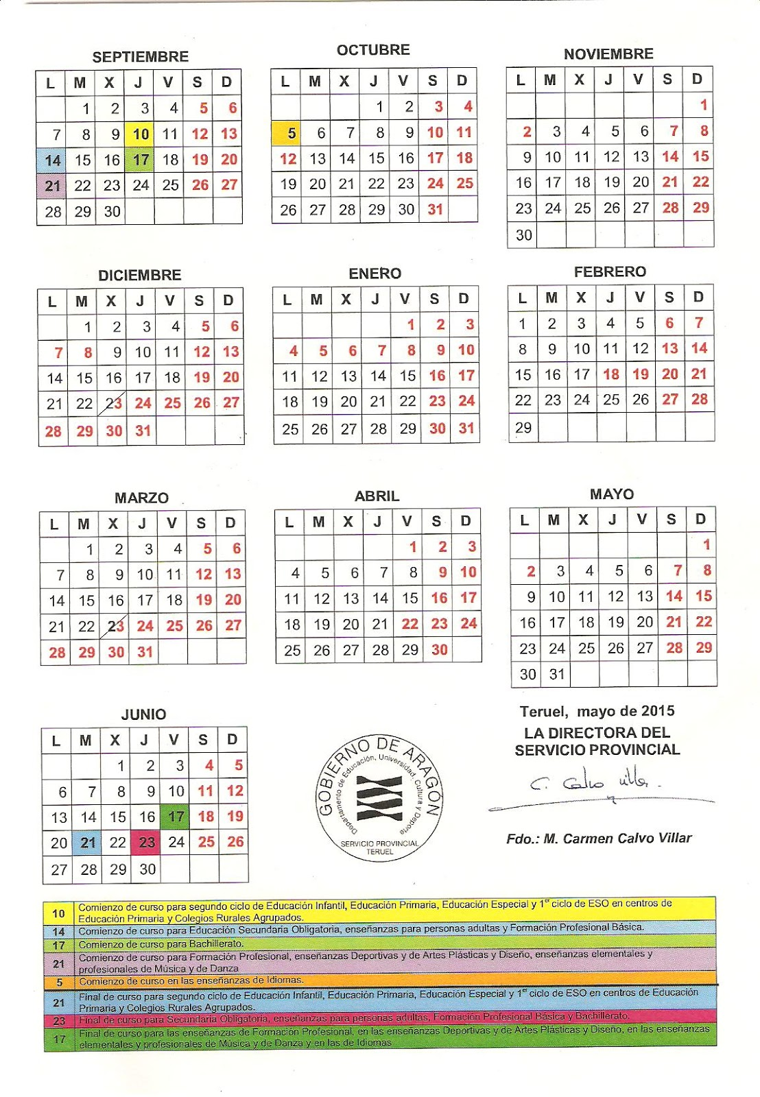 Excelente Plantilla Del Calendario Escolar 2014 Embellecimiento ...