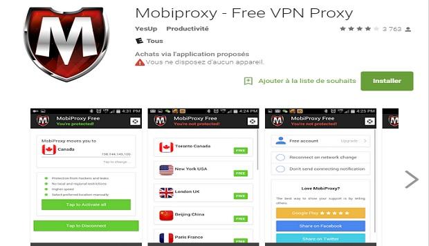 تطبيق mobiproxy free vpn proxy
