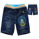 Thomas and Friends 3/4 Jeans with color band.size 4-5y