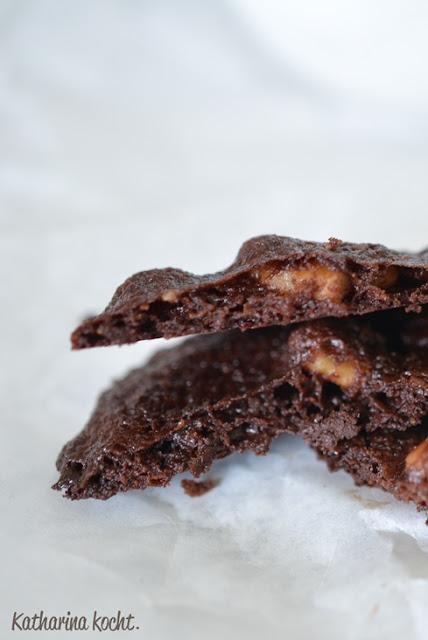 Schokolade Kekse Walnüsse Reissirup Lace cookies zuckerfrei