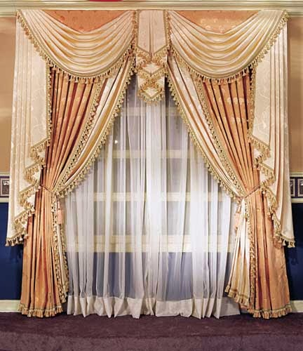 Ideas for window curtains for living room 2014 part 4 for Curtain valance ideas living room