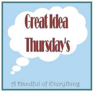 Great Idea Thursdays:  A #linkparty where everything gets pinned.  Anything goes as long as it's family friendly and you made it yourself.