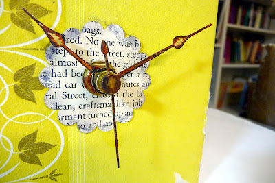 recycling paper for home decor: book clock {tutorial}