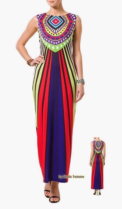 Robe longue multicolore Mara Hoffman
