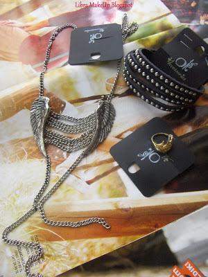 koton ole zımbalı deri bileklik metal kolye yüzük