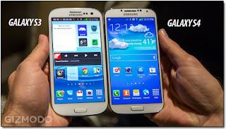 Galaxy S4 внешне схож с Samsung Galaxy S III - прошлогодним «флагманом» Samsung