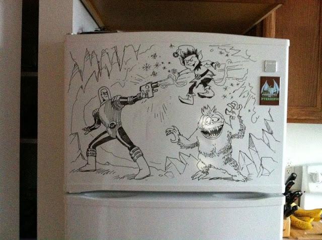 Arte na geladeira