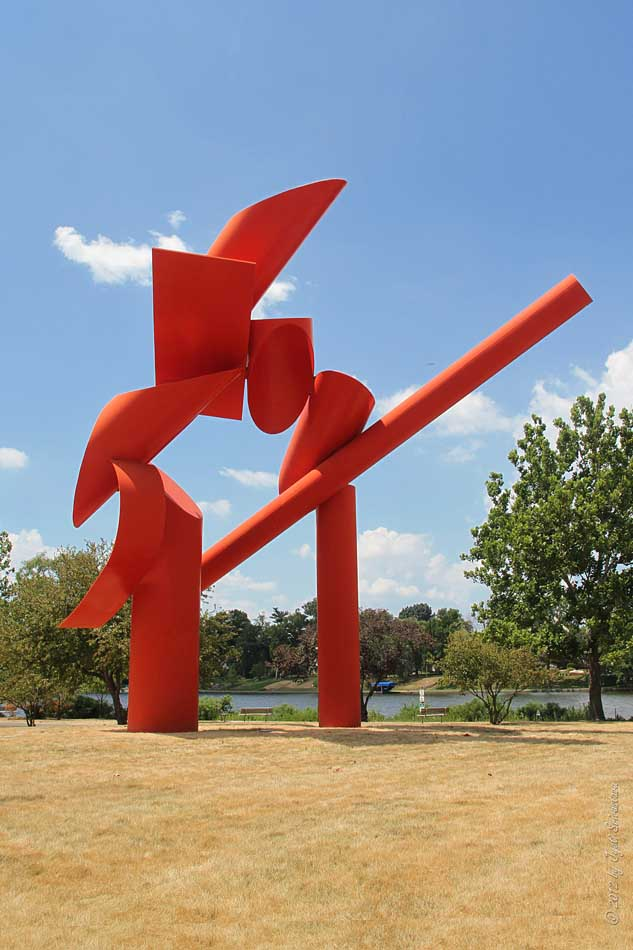Public Art In Chicago Rockford Symbol By Alexander Liberman