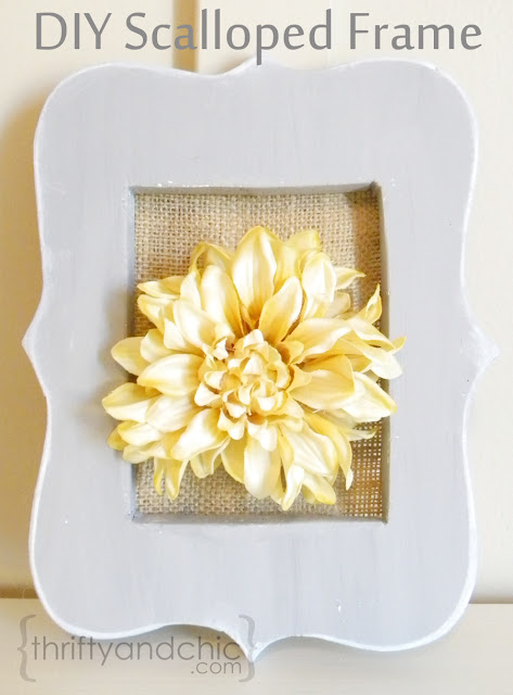 diy scalloped frame