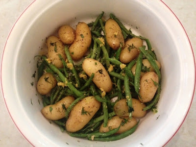 Fingerling Potatoes & Green Beans With Lemon-Dill Dressing Recipe