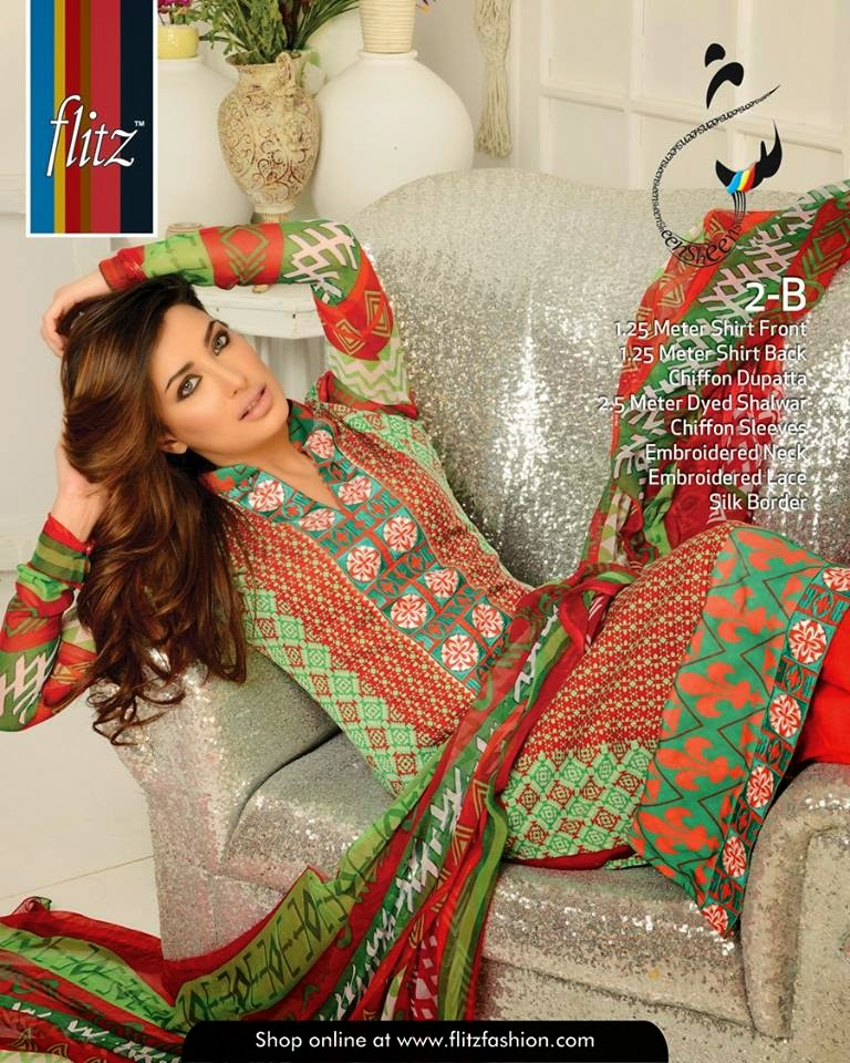 Pakistani flitz lawn collection 2015
