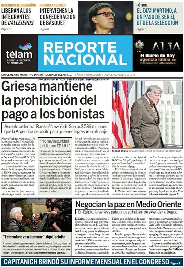 """""""El Diario de Hoy"""" 07/08"""