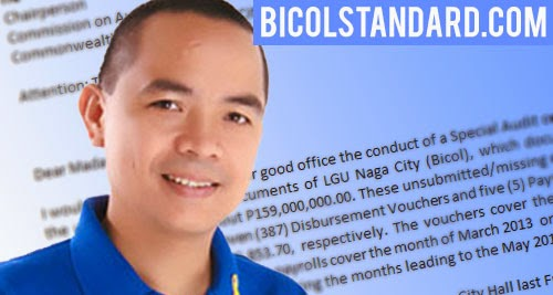 Councilor Nathan Sergio asks COA to probe Naga City Hall
