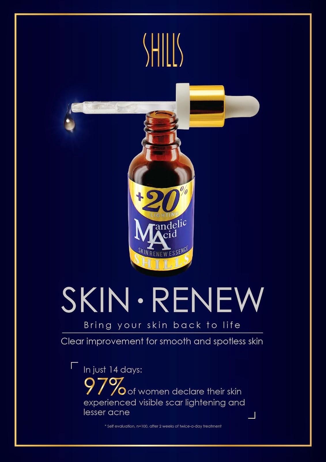 PRE ORDER SHILLS Mandelic Acid 20% Skin Renew Essence 30ml