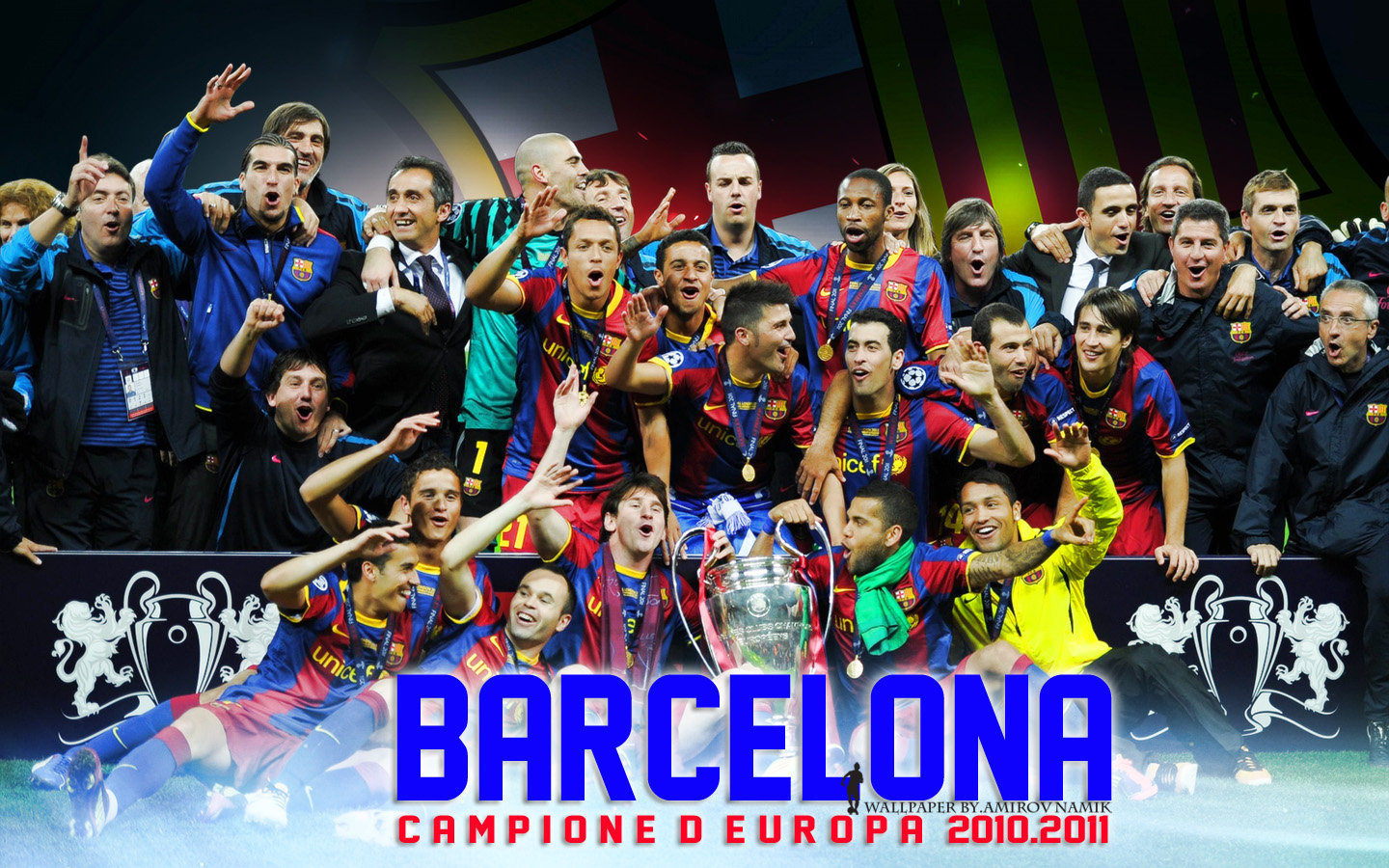 FC Barcelona Champions League 2011 Wallpaper