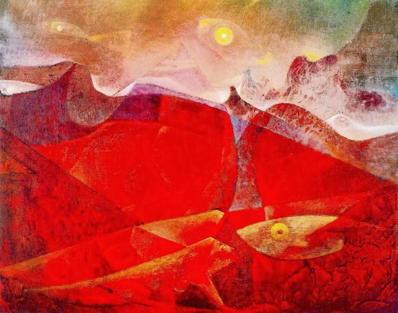 Colorado of medusa, Color raft of medusa (Max Ernst, 1953)