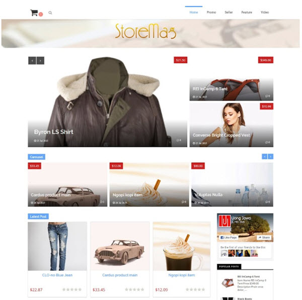 Storemag online shop Blogger template