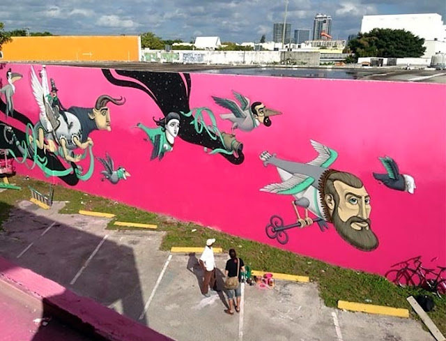 Street Art By Ukrainian Urban Artist Kislow For Art Basel Miami 2013 in Florida. 4