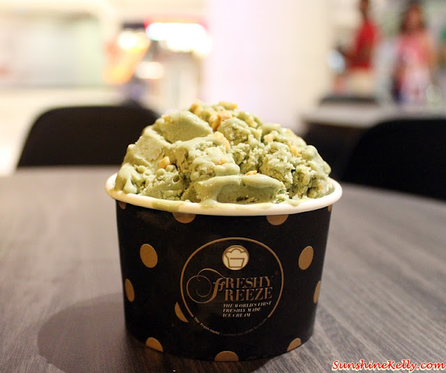 Japanese Green Tea with Almonds, Freshly Freeze Malaysia, Freshly Freeze, Fried Ice Cream, World's First Freshly Made Ice Cream, Best Fresh Ice Cream, Freshly Made Desserts, Thailand Ice Cream, nu sentral mall