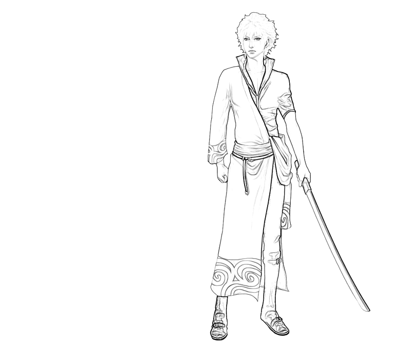 printable-sakata-gintoki-weapon-coloring-pages