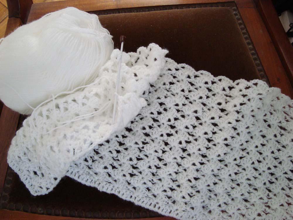 Tejidos paso a paso manta de bebe a crochet - Manta de bebe a ganchillo ...