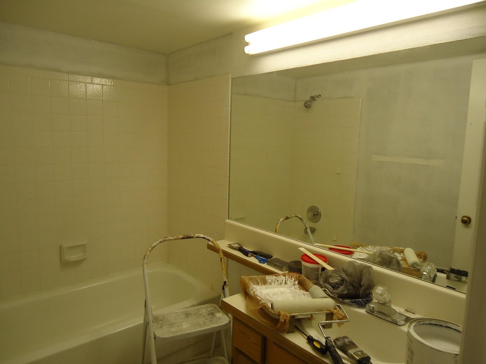 Cobblestones ivy bathroom rehab guest bathroom progress for Bathroom rehab