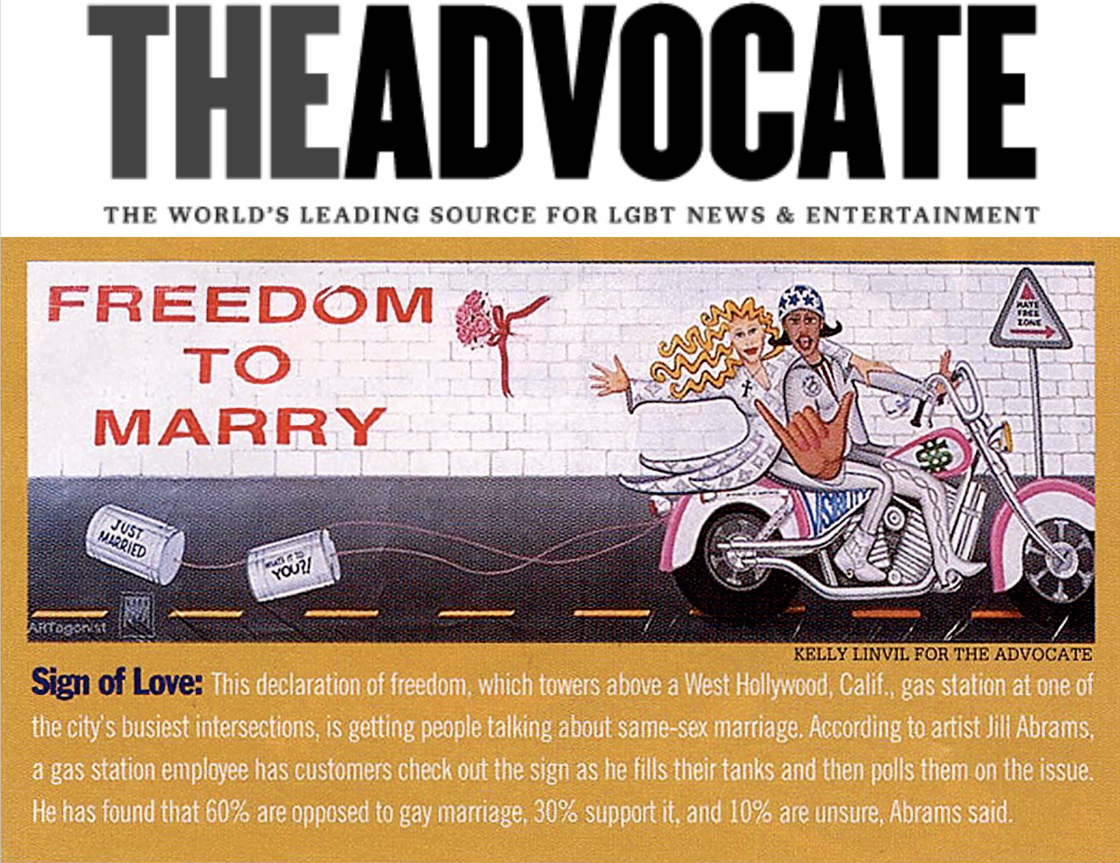 THE ADVOCATE Magazine ~ 1998
