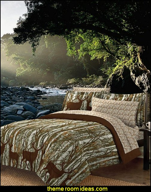 Forest Bed in Bag with Sheet Set forest wall mural