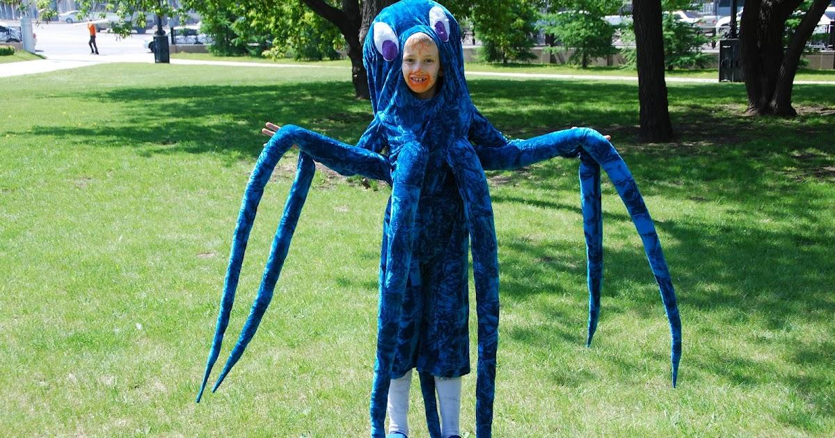 Костюм осьминога из бумаги своими руками 65