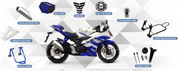 Ini dia daftar harga aksesoris original untuk Yamaha YZF R15 . . . harga mulai dari 90 ribuan !