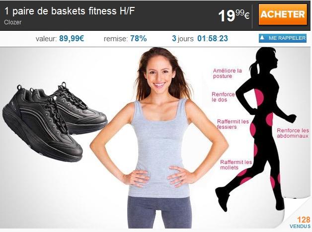 1 paire de baskets fitness H/F: Baskets Balancing Shoes deal