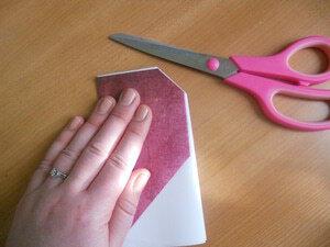 cara membuat origami love sebagai kartu valentine