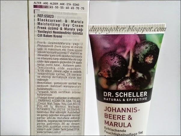 Dr.Scheller Gündüz Bakım Kremi İçerik