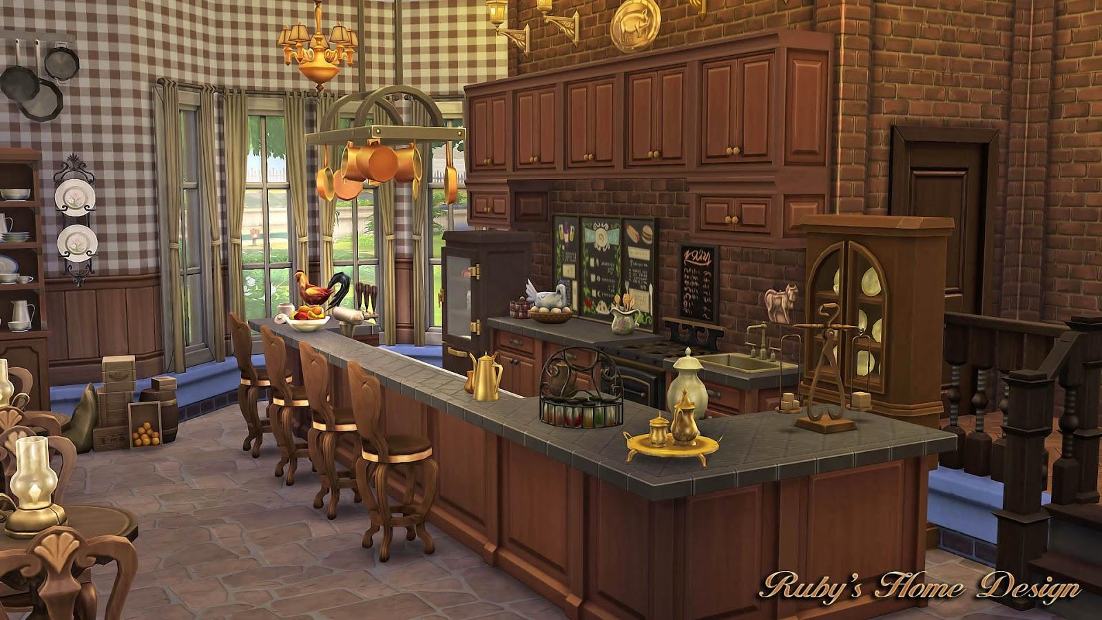 Sims4 granny s kitchen no cc ruby s home