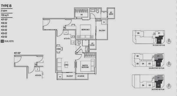 Loft 33 2 Bedrooms Floor Plan