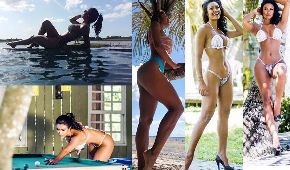 """""""Rainha das Rainhas do Carnaval Amapaense 2018"""" sensualiza em fotos e mostra que está em plena form"""