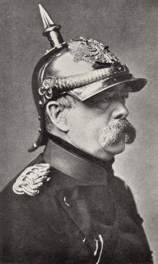 bismarck wearing a pickelhaube