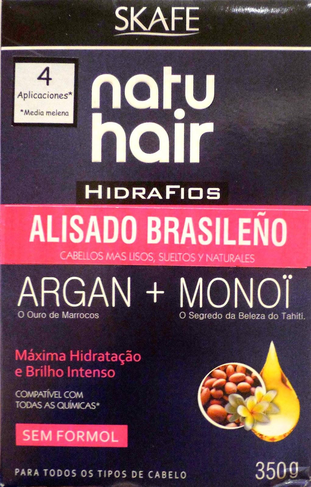 skafe natu hair hidra fios alisado brasileno