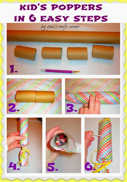 New Year's Party Poppers for Kids by Gina's Craft Corner