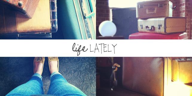 Lesley Myrick Life Lately - Vintage Suitcases