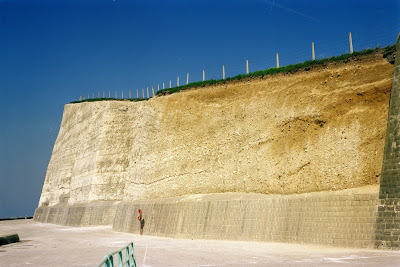 Saltdean - showing the chalk face with the remains of the sandy post glacial river bed