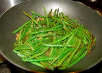 Chinese easy recipe dry stir fry green beans