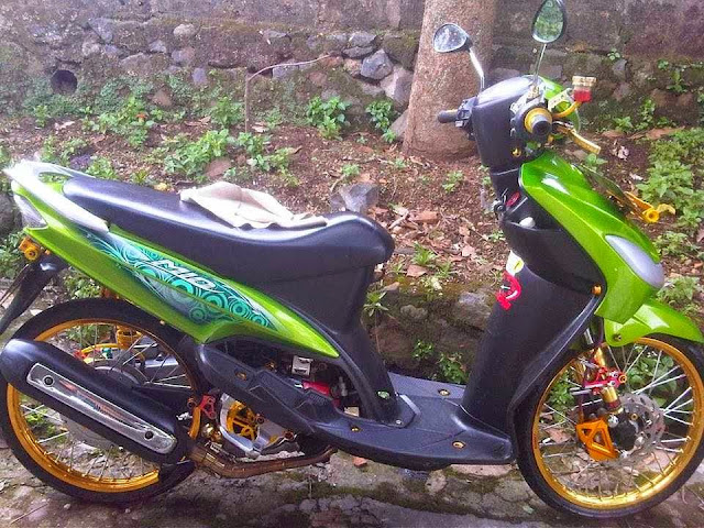ide modifikasi motor mio sporty hijau