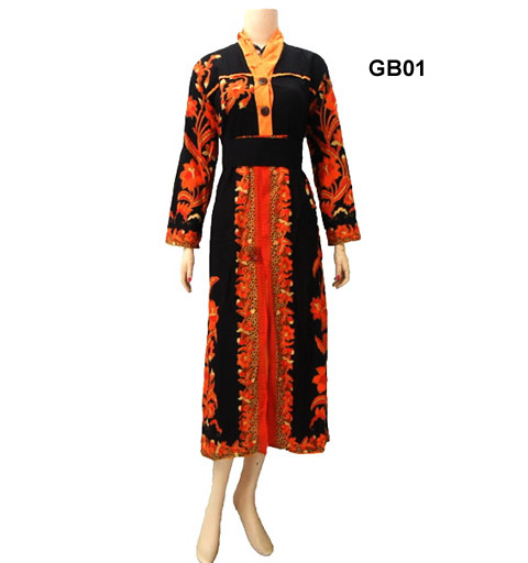 model baju gamis batik wanita