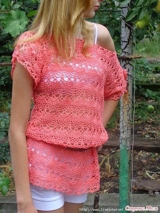 Blusa con diseño delicado - crochet con patrón