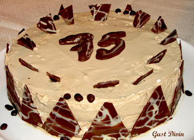 tort cu doua creme ness si ciocolata alba