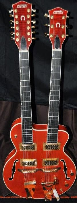 the unique guitar blog double neck guitars this is a gretsch anniversary double neck gretsch currently offers a guitar baritone guitar doubleneck