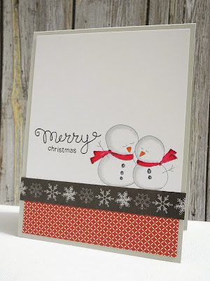Frozen Friends Snowman card by Jingle for Newton's Nook Designs