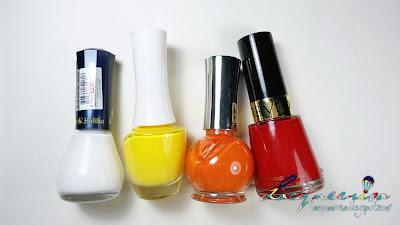 Nail Polishes Used