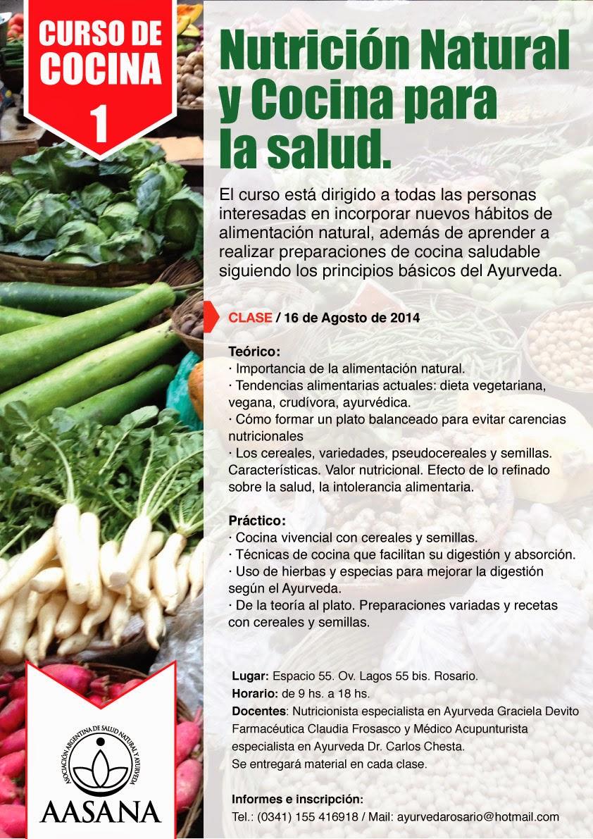 Curso de Nutrición Natural y Cocina para la Salud
